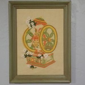1970s Framed Crewel Art